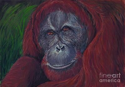 Indonesia Painting - Sumatran Orangutan by Tom Blodgett Jr