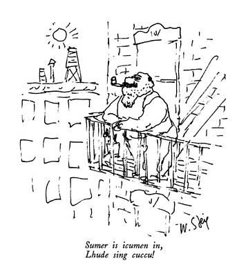 Sing Drawing - Sumer Is Icumen by William Steig