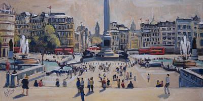 Square Painting - Sumer On Trafalgar Square by Nop Briex
