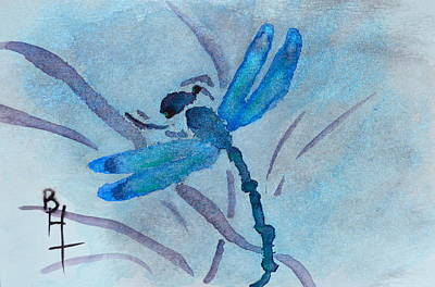 Sumi Dragonfly Art Print by Beverley Harper Tinsley
