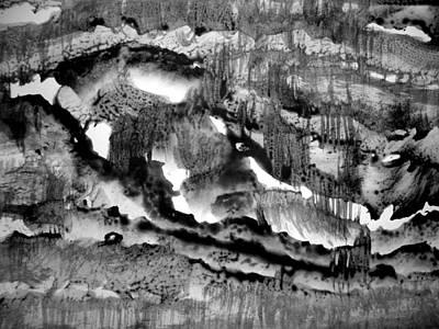 Clay Drawing - Sumi-e 130423-5 by Aquira Kusume