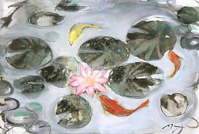 Millbury Painting - Sumie No.12 Triple Koi by Sumiyo Toribe