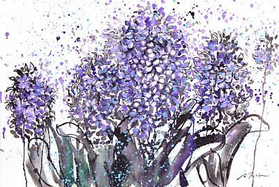 Millbury Painting - Sumie No.13 Hyacinth by Sumiyo Toribe