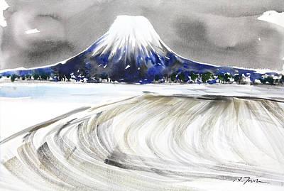 Sumie No.17 Mt.youtei In Hokkaido Japan Art Print