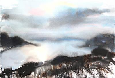 Millbury Painting - Sumie No.18 Evening Hokkaido by Sumiyo Toribe