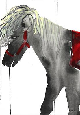 Millbury Painting - Sumie No.20 Pony Ride by Sumiyo Toribe