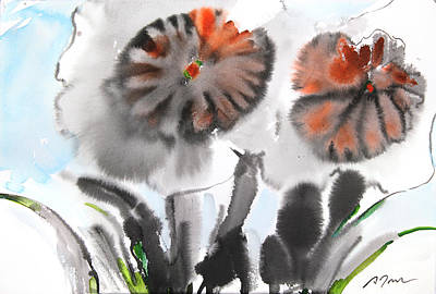 Sumie No.4 Daffodils Art Print