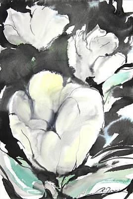 Millbury Painting - Sumie No.5 Tulips by Sumiyo Toribe