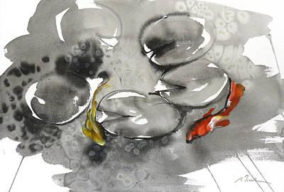 Millbury Painting - Sumie No.8 Koi by Sumiyo Toribe