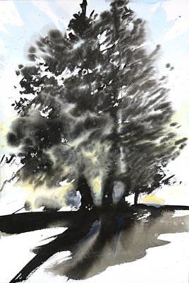 Millbury Painting - Sumie No.9 Trees by Sumiyo Toribe