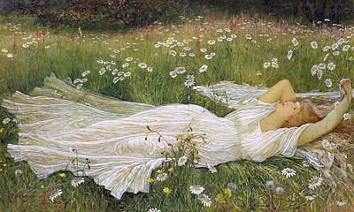 Daisies Drawing - Summer, 1895 by Walter Crane