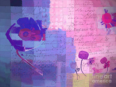 Flower Abstract Mixed Media - Summer 2014 - J049039158c178 by Variance Collections