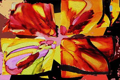 Summer Abstract Art Print by Kathy Bassett