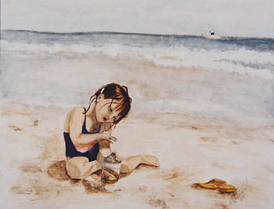Castles In The Sand Painting - Summer Afternoon by Cindy Heil