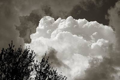 Photograph - Summer Afternoon Cloudscape by Charles Owens