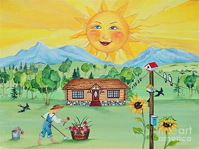 Banff Artist Painting - Summer Afternoon by Virginia Ann Hemingson