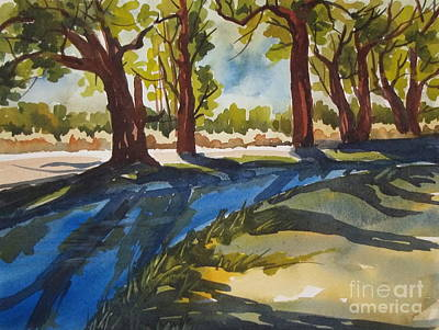 Painting - Summer Along The Canal by Pat Crowther
