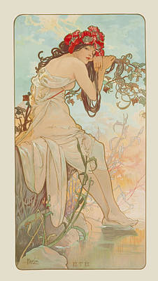 Summer Art Print by Alphonse Mucha