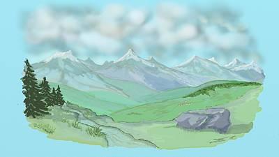 Digital Art - Summer Alps 1 by Francois Dumas