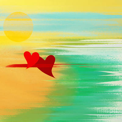 Andee Design Red Digital Art - Summer And In Love by Andee Design