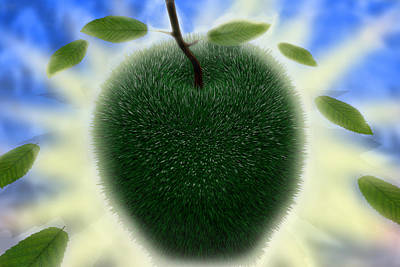 Digital Art - Summer Apple by Robert Sanders