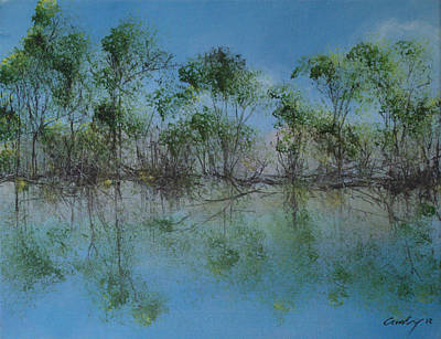 Belmont Lake State Park Wall Art - Painting - Summer At Belmont Lake by Louis Crosby
