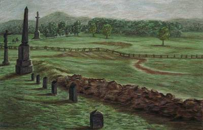 Pastel - Summer At Cemetary Ridge Gettysburg by Joann Renner