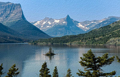 Photograph - Summer At Glacier National Park by John M Bailey