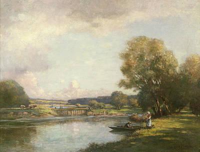 Summer At Hemingford Grey Art Print