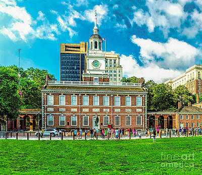 Photograph - Summer At Independence Hall by Nick Zelinsky
