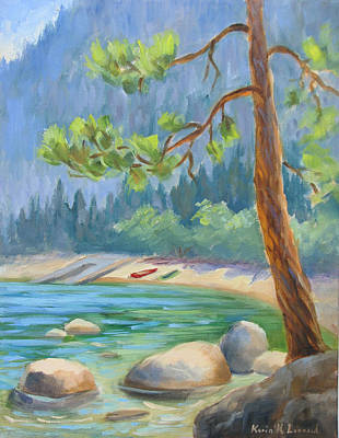 Summer At Lake Tahoe Art Print by Karin  Leonard