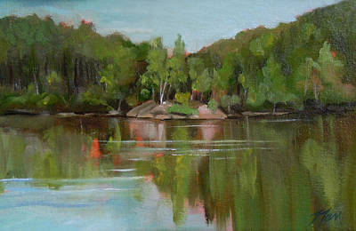Painting - Summer At Mirror Lake by Nancy Griswold