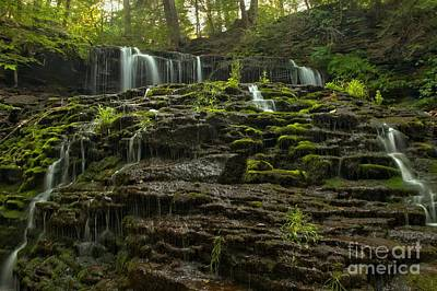 Summer At Mohawk Falls Art Print by Adam Jewell