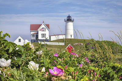 Summer At Nubble Light Art Print by Eric Gendron