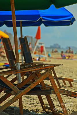 Summer At The Beach Art Print