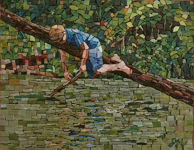 Mosaic Mixed Media - Summer At The Creek by Julie Mazzoni