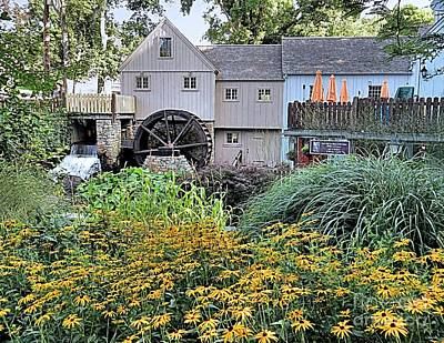 Photograph - Summer At The Grist Mill by Janice Drew