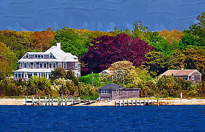 Summer At The Shore Art Print by Kirt Tisdale