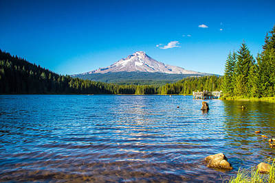 Photograph - Summer At Trillium Lake by Kunal Mehra
