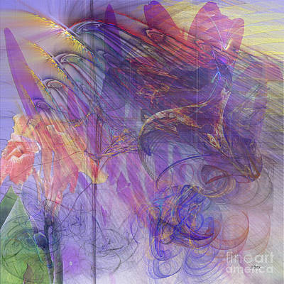 Colorful People Abstract Royalty Free Images - Summer Awakes - Square Version Royalty-Free Image by John Robert Beck