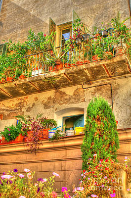 Photograph - Summer Balconies by David Birchall
