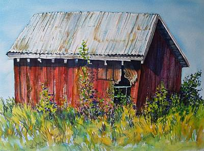 Painting - Summer Barn by Lynne Haines