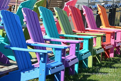 Art Print featuring the photograph Summer Beach Chairs by Jeannie Rhode