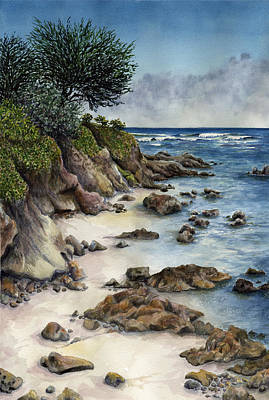 Carmel Wall Art - Painting - Summer Beach by Karen Wright