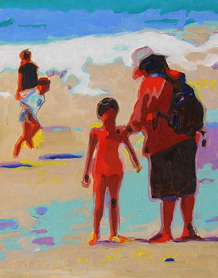 Painting - Summer Beach Play by Thomas Bertram POOLE