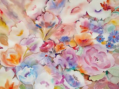 Summer Blooms Art Print by Neela Pushparaj