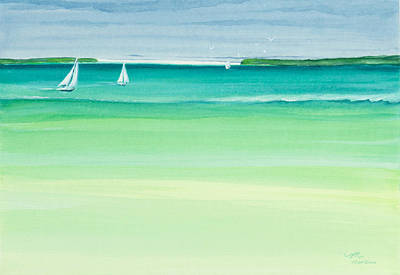 Watercolor Painting - Summer Breeze by Michelle Wiarda