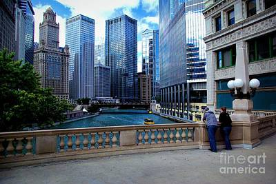 Photograph - Summer Breeze On The Chicago River - Color by Frank J Casella