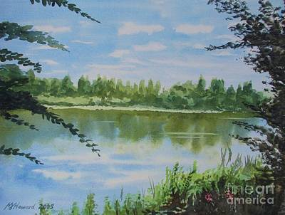 Summer By The River Art Print