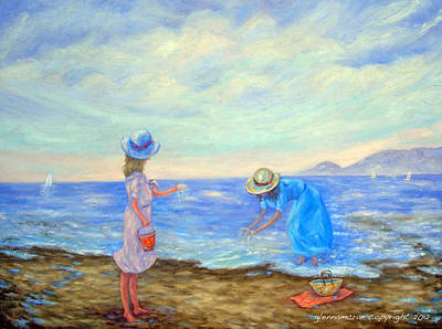 Summer By The Sea... Art Print by Glenna McRae